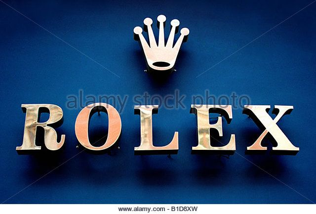Logo of Rolex - Stock Image