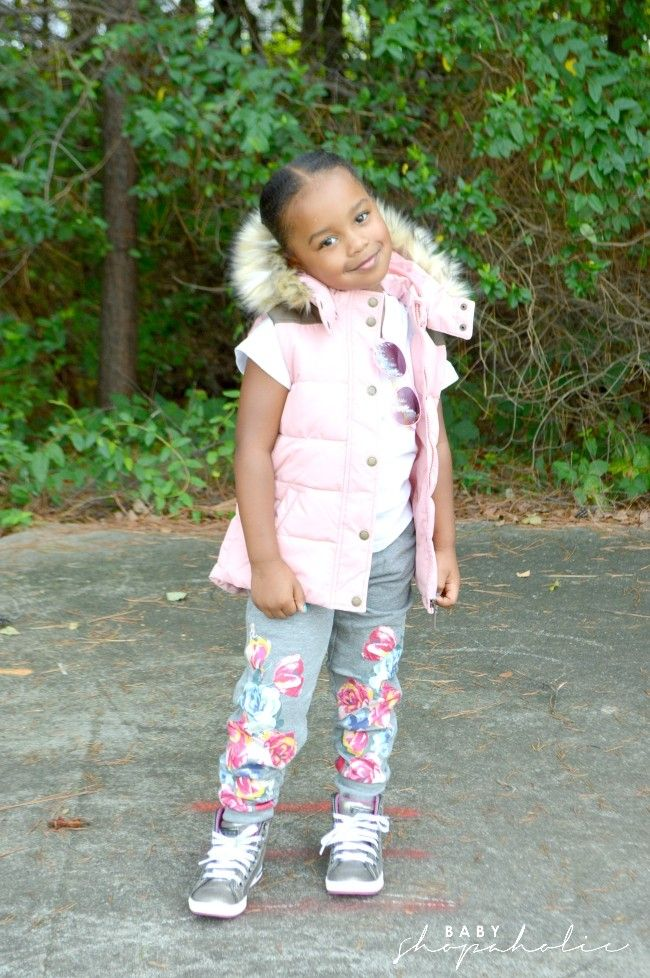 """Who doesn't love a puff vest?...This look is perfect for the school playground."" -Trina of @babyshopaholic 