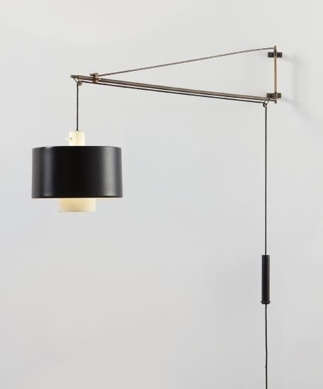 Gaetano Scolari Adjustable wall light, circa 1960