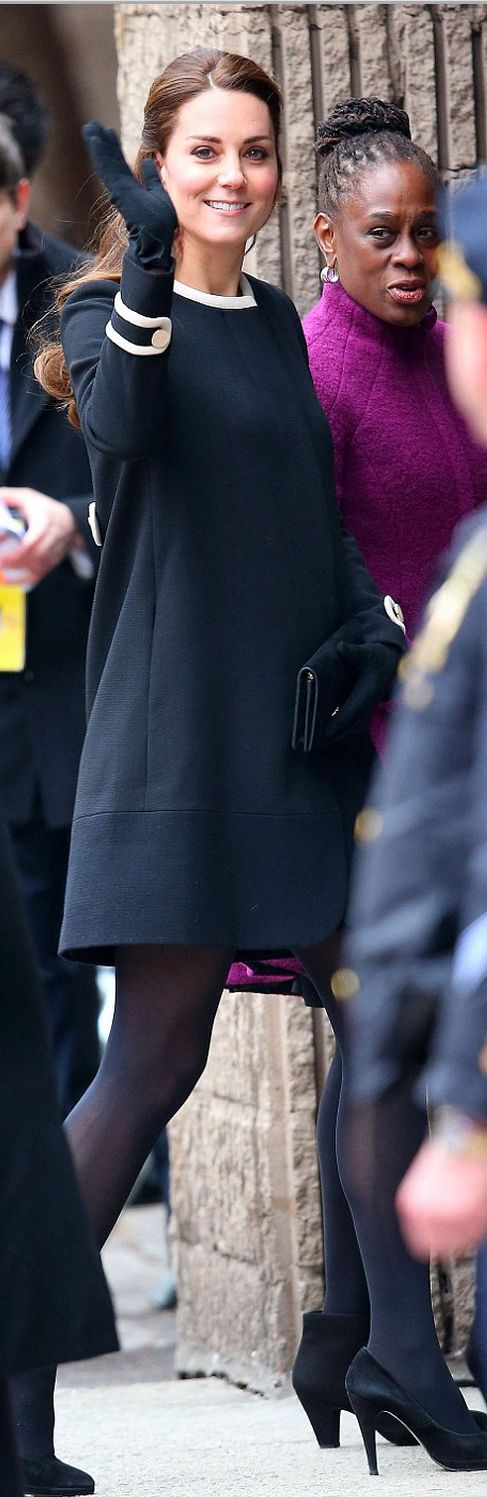Who made  Kate Middleton's black dress that she wore in New York?