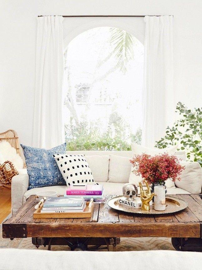 Love this clean, minimal living room setup.