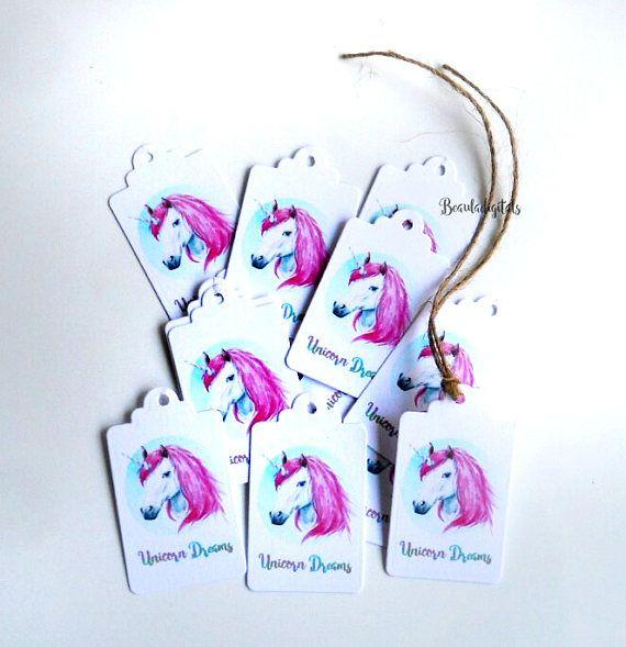 Unicorn Swing Tags Favor Tags Small Swing Tags Unicorn