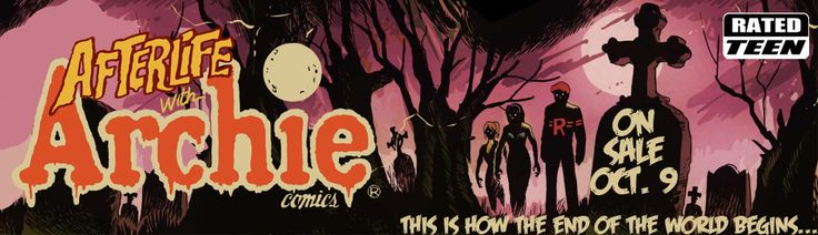 Stay up to date with Afterlife with Archie. Visit the Afterlife With Archie website, follow @AfterlifeArchie on Twitter and 'like' the Afterlife with Archie Facebook page: www.facebook.com/AfterlifewithArchie