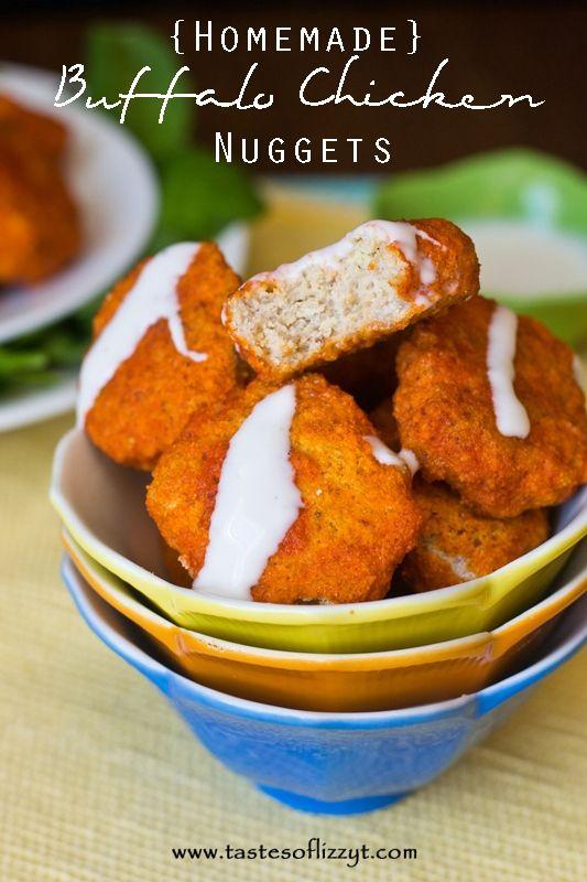 Homemade Buffalo Chicken Nuggets I Tastes of Lizzy T I Paleo, grain free, gluten free, sugar free, and dairy free! http://www.tastesoflizzyt.com/2014/02/19/homemade-buffalo-chicken-nuggets/
