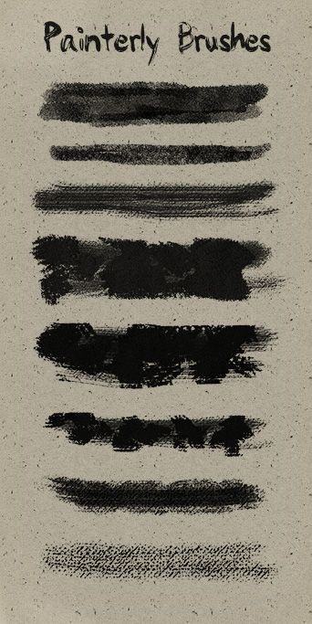 8 Painterly brushes. You can use it in any personal or commercial project, just don't sell it and don't tell it's yours. Enjoy!