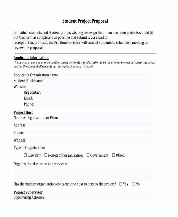 Project Proposal Format For Student Luxury Free 63 Free Proposal Examples Samples In Pdf Doc Project Proposal Proposal Format Proposal