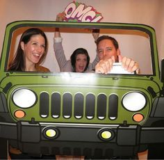 Army Green Jeep Style Photo Booth Prop  Jeep Prop by LMPhotoProps: