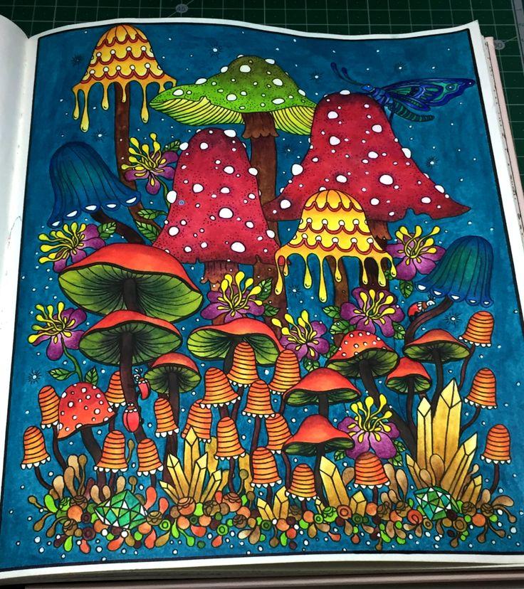 from sommarnatt by hanna karlzon colored with derwent inktense pencils