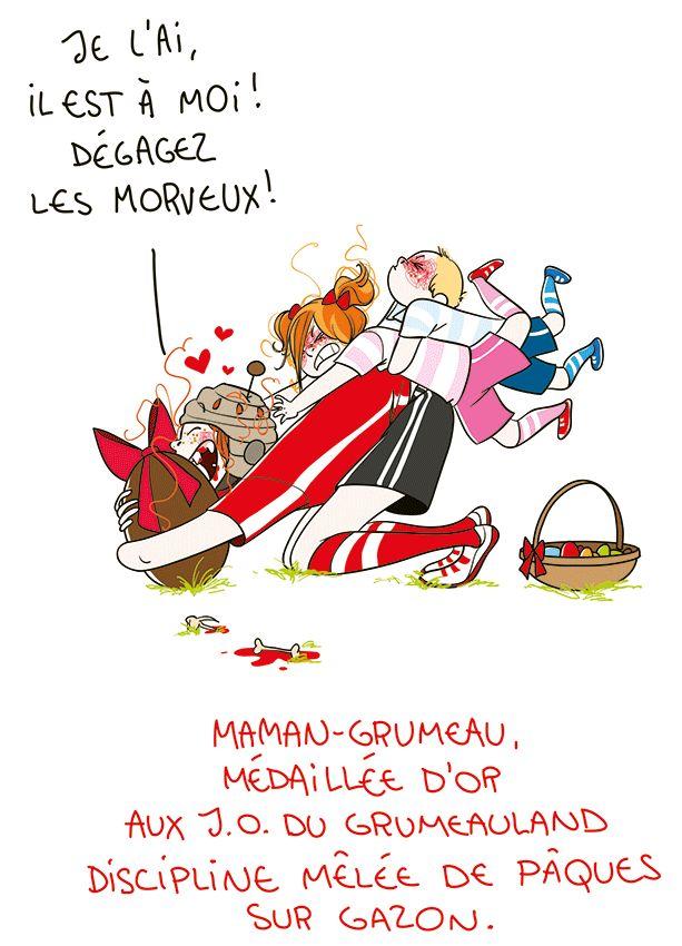 Petit précis de Grumeautique - Blog illustré: Pâques au gazon, chocolat dans le bedon