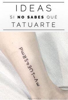 Ideas para chicas que se quieren tatuar, ¡pero no saben qué ni en dónde!