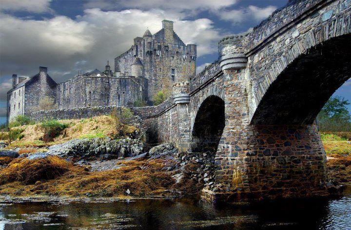 "Eilean Donan Castle, Scotland. Disney consulted here while making their movie ""Brave"".  I love writing to the castle.  It has a great sense of humor and is home to the Clan McCrae...and they put up with the Anglesee Welshman that I am."