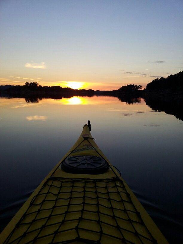 Mosterhamn, kajakk, sunset