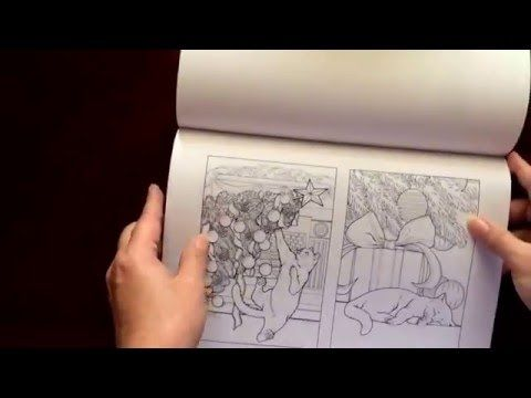 By Adult Coloring Book Reviews Shelly Santas Cats Jason Hamilton