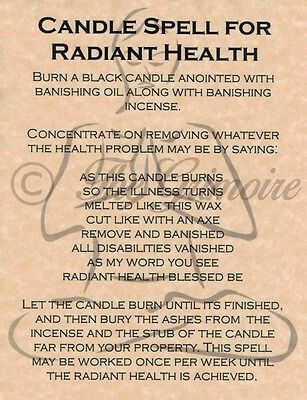 Candle spell for radiant health