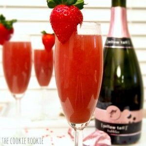 strawberry crush mimosas