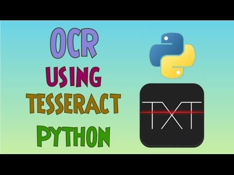 YouTube | xCode | Optical character recognition, Python