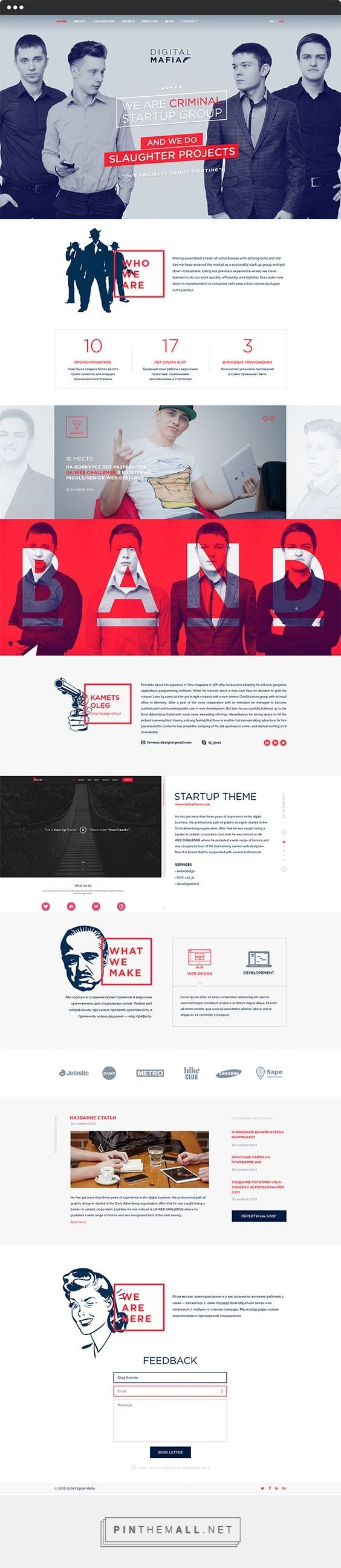 Digital Mafia Production Agency Web Design by Oleg Kamets | Fivestar Branding – Design and Branding Agency & Inspiration Gallery