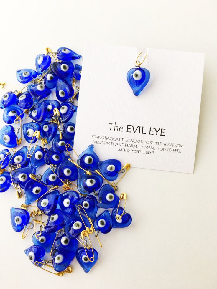 A personal favourite from my Etsy shop https://www.etsy.com/listing/507168587/5-pcs-unique-wedding-favors-evil-eye