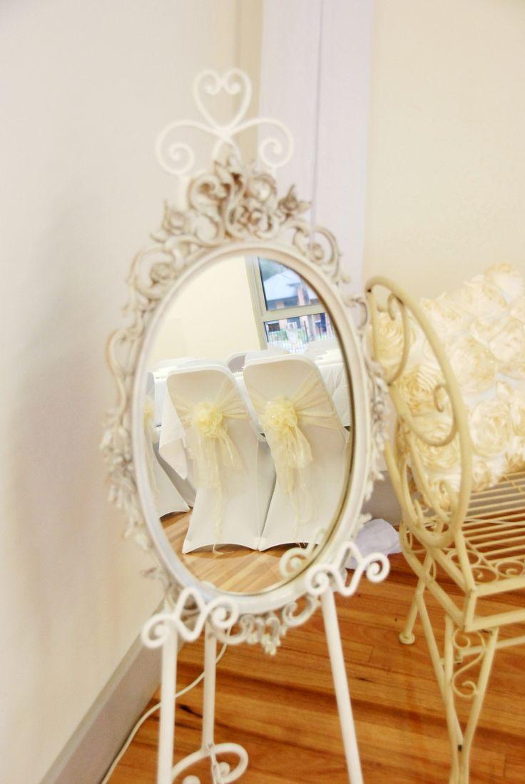 Vintage Mirror on Easle & Vintage Metal Lounge Setting
