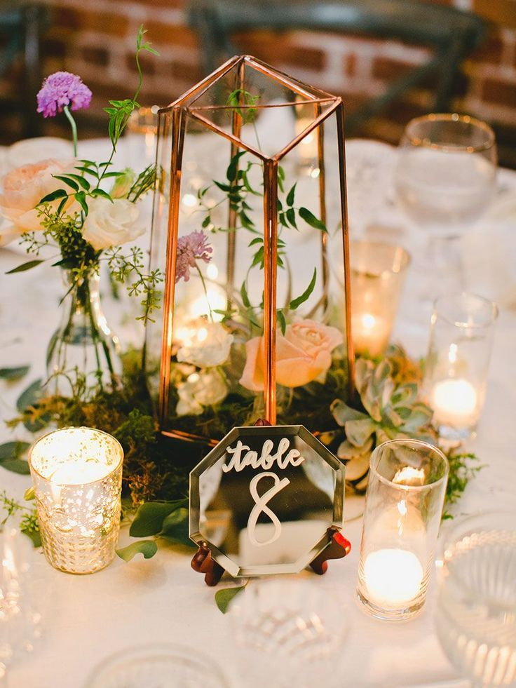 18 Romantic Wedding Centerpieces With Candles Wedding Table