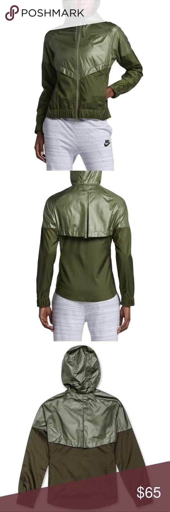 Women's Nike Windrunner Jacket Legion/Palm Green New Nike Jackets & Coats