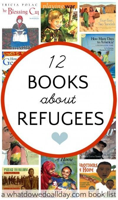 Children's books about refugees. Different historical time periods.