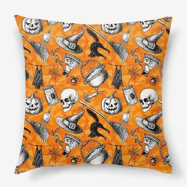 """Подушка на диван """"Винтажный Хэллоуин"""" Автор принта Мария Смакоус"""