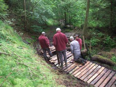 River Esk Volunteers - boardwalk repair along Danby Beck