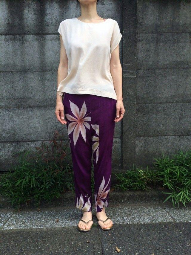 シルクパンツ/ アンティーク 着物 リメイク | HandMade in Japan 手仕事の新しいマーケットプレイス iichi