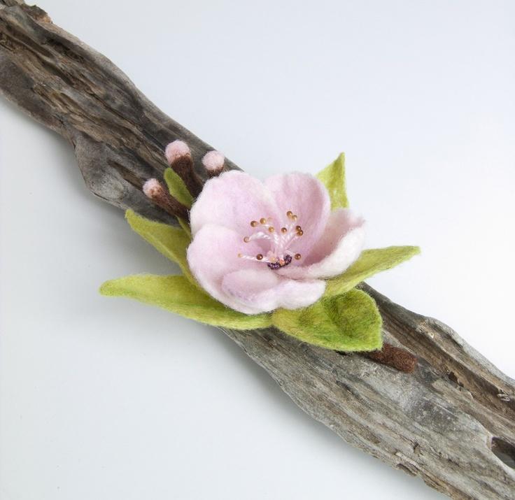 Felt Flower Brooch - Needle Felted Brooch. via Etsy.