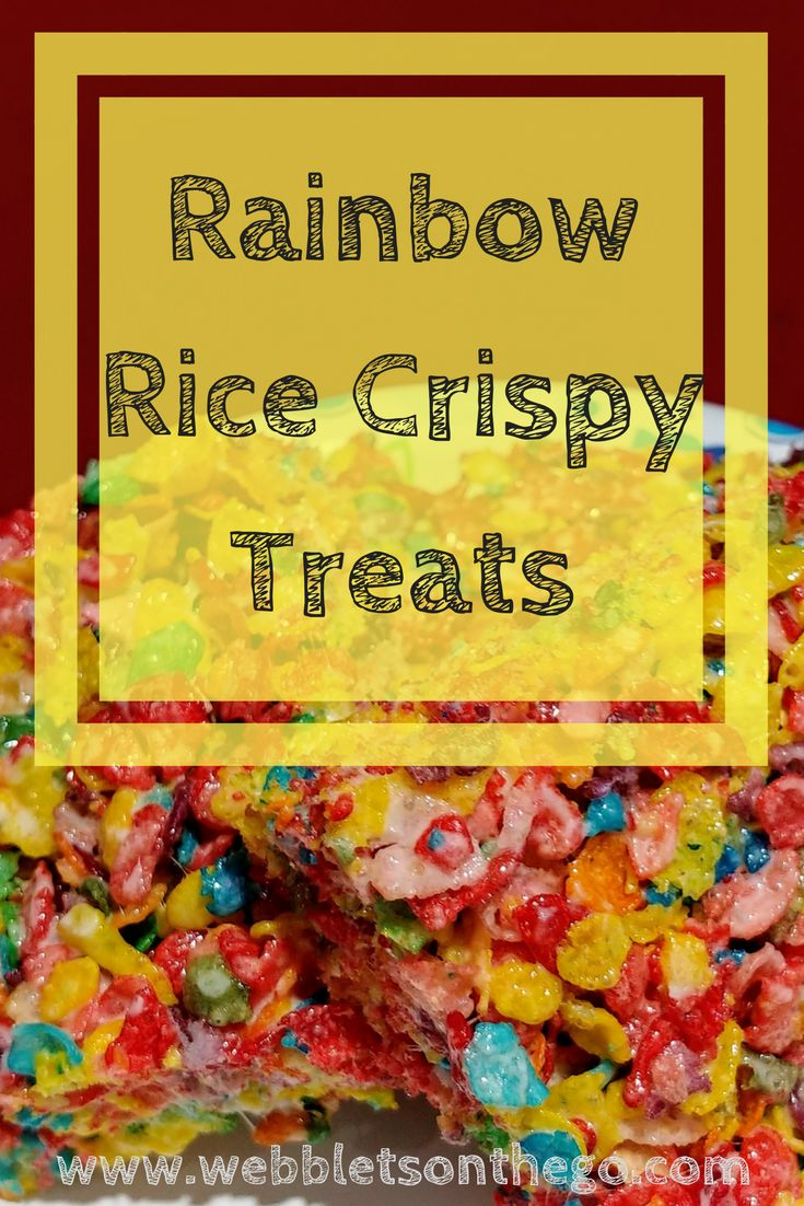 A colorful kid approved version to rice crispy treats. #fruitypebbles #ricekrispiestreats #colorful #sugar #sugarrush #rainbowfood #webbletsonthego