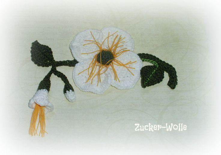 Orchidee Häkelblume KCA 32 von Zucker-Wolle auf DaWanda.com