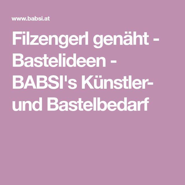 Filzengerl genäht - Bastelideen - BABSI's Künstler- und Bastelbedarf