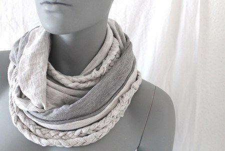 Geflochtener Schal aus T-Shirts // DIY | nähmarie