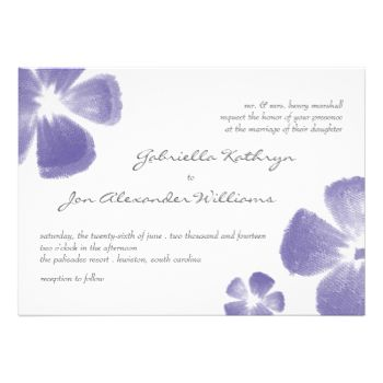 """Check out coordinating items in our shop! """"Painted Flowers"""" brushes courtesy of """"Obsidian Dawn"""" - http://www.obsidiandawn.com #floral #flowers #elegant #tropical #summer #beach #painted #purple #grape #watercolor #modern #simple #white #tropical #wedding #invitations #flower #floral #wedding #invitations #flowers #wedding #invitations #wedding #invitations #modern #wedding #invitations #tropical #wedding #painted #flowers #beach #wedding #beach #wedding #invitations #island #wedding ..."""