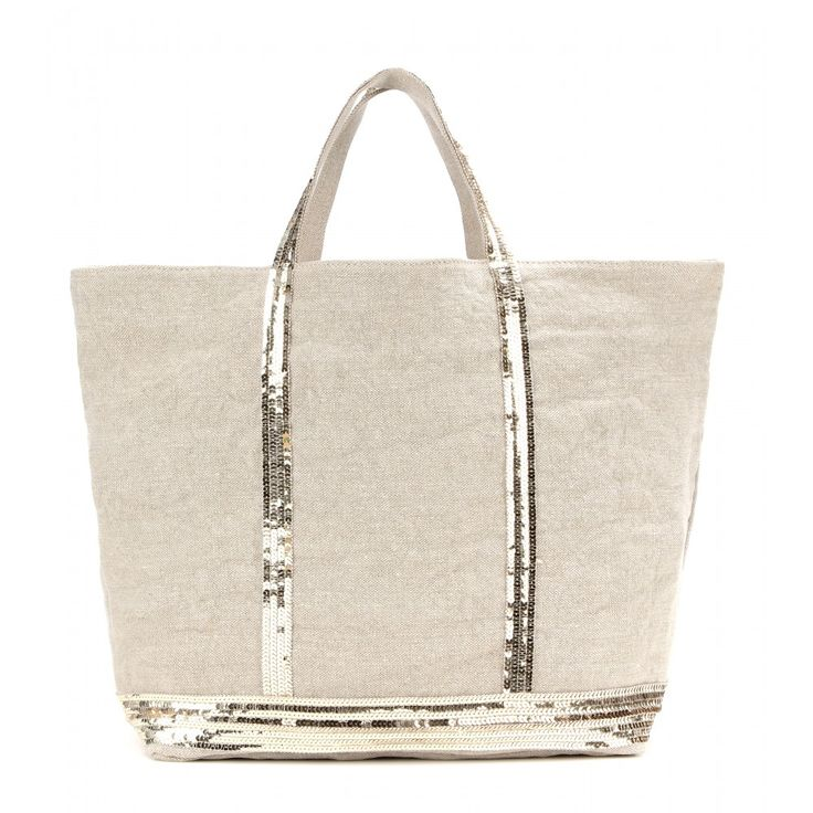 Vanessa Bruno - Cabas sequin-embellished canvas shopper - Vanessa Bruno upgrades humble canvas, embellishing this roomy shopper with sparkling sequins. Tote it from the beach to the bar - it's perfect for carrying all of your essentials and plenty more. seen @ www.mytheresa.com