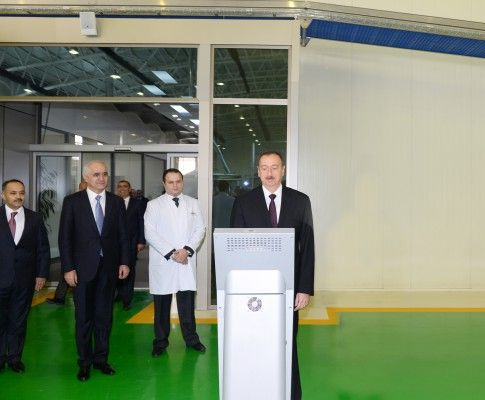President Ilham Aliyev attended the opening of a bread factory in Shamkir