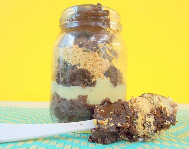 Brownie no pote, a receita de um expert!
