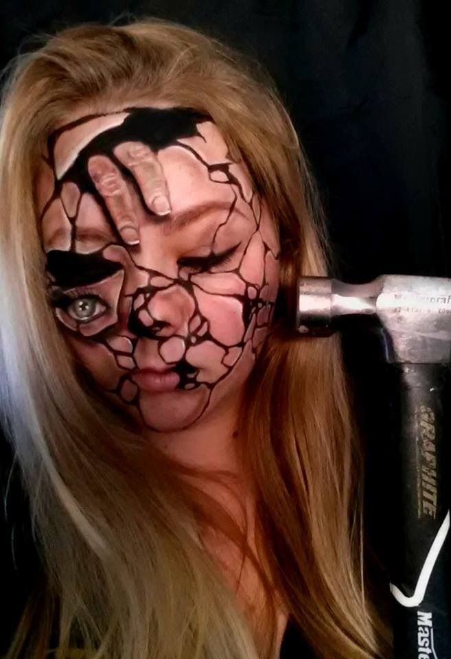 Scary Halloween Face Makeup