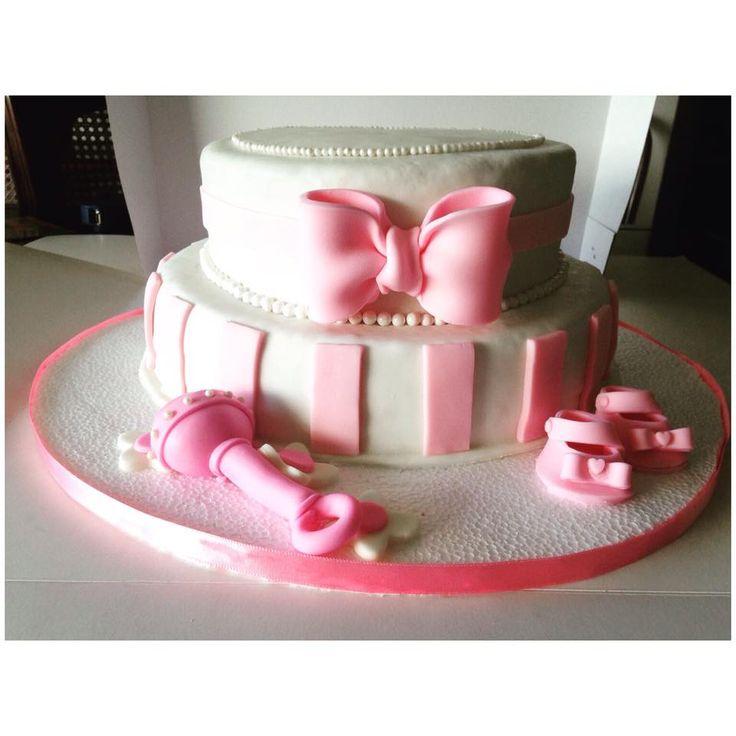 niña cañe torta baby shower its a girl