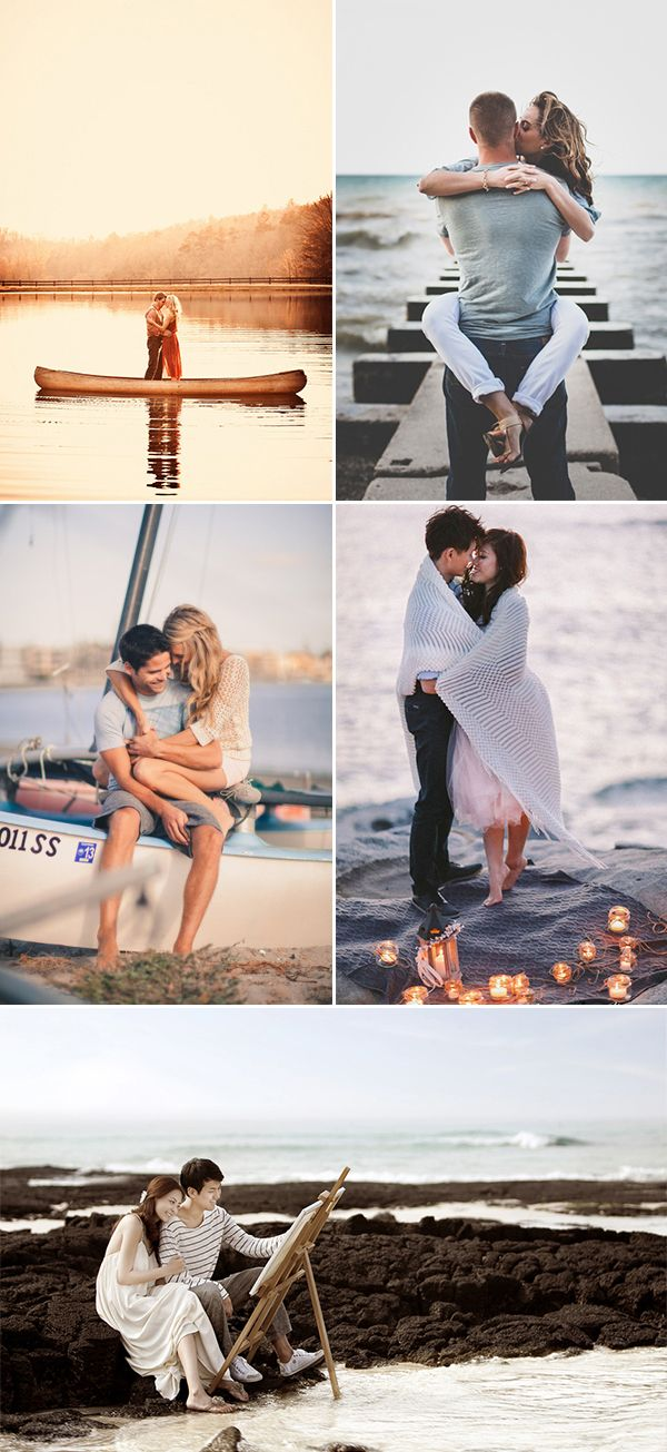 A Sweet Date! 25 Cute and Romantic Engagement Photo Ideas - Beach Fun