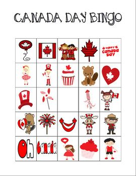 A Canada Day printable bingo game for your students. Students cut and paste the holiday themed pictures onto a blank bingo card to create unlimited individualized game boards! Want to see more customizable bingo games? Check out my Yearly Holidays Bingo BUNDLE Yearly Holidays Bingo Bundle