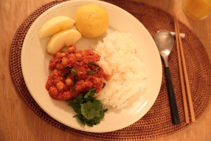 トマト缶とひよこ豆缶で。チャナマサラ by LOVE+ [クックパッド] 簡単おいしいみんなのレシピが216万品