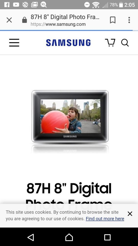 Details About Samsung Spf 87h 8 Inch Lcd Ultra Slim Digital Photo