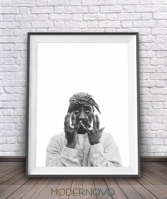 2Pac print is a high quality printable download art. Tupac Shakur print is great for wall decor your home, office or as lovely gift! Just print it and frame it - its truly easy! ❤️ SALE: Buy 2 - get 4 PRINTS! - Select 4 prints in your cart and use code BUY2GET4 at checkout to get 2 of them free! ❤️ ❖ NOTE: No physical item will be shipped to you. You are purchasing high resolution JPEG files. ❣ --- INCLUDED FILES --- ❣ The listing includes 4 JPG files high-resolution with 300 DPI at vario...