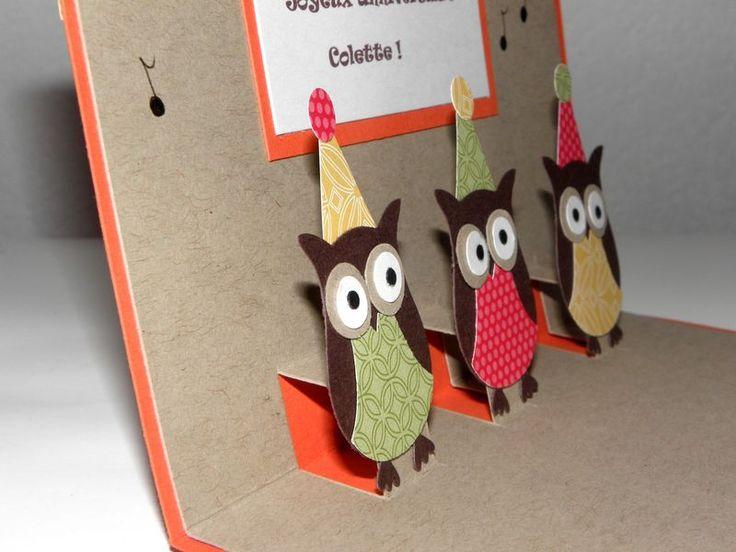 une carte pop up version anniversaire sev et lolo scrapent cards pinterest. Black Bedroom Furniture Sets. Home Design Ideas