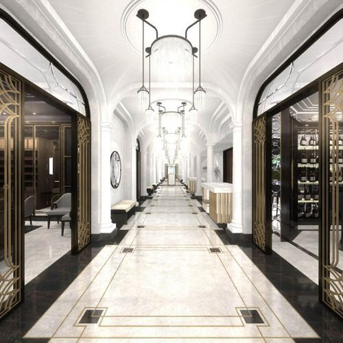 1000 images about hotel lobby floor designs on pinterest marble floor mosaic tiles and floors - Deco muur corridor ...
