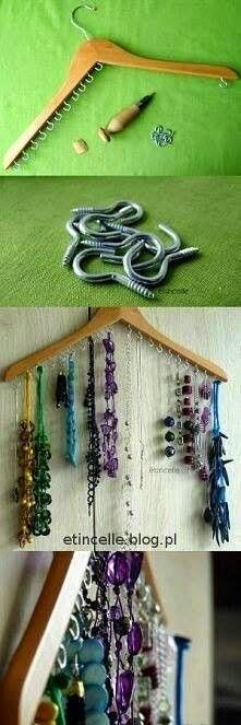 simple necklace holder.