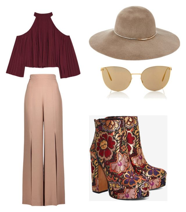 AN DA'a style #6 by an-da-i on Polyvore featuring polyvore, fashion, style, W118 by Walter Baker, Cushnie Et Ochs, Shellys, Eugenia Kim, Mykita and clothing