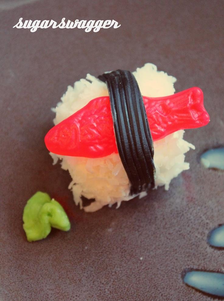 candy sushi rolls.